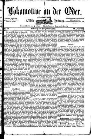 Lokomotive an der Oder on Jan 25, 1882