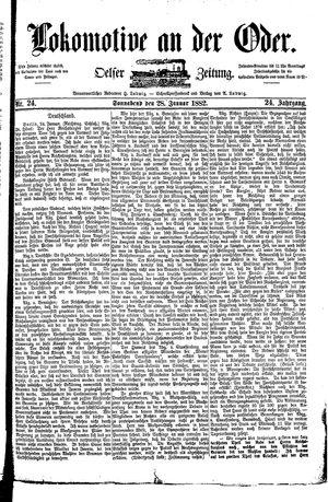 Lokomotive an der Oder vom 28.01.1882