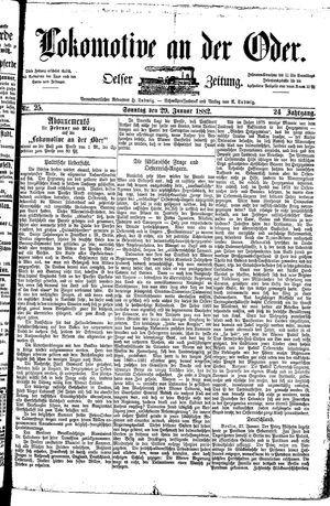 Lokomotive an der Oder on Jan 29, 1882