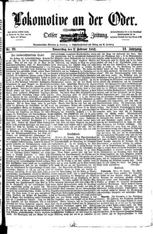Lokomotive an der Oder vom 02.02.1882