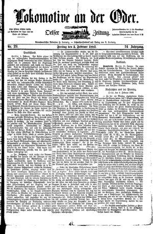 Lokomotive an der Oder vom 03.02.1882