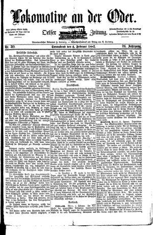 Lokomotive an der Oder vom 04.02.1882
