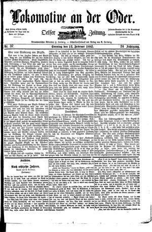 Lokomotive an der Oder vom 12.02.1882
