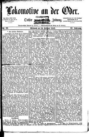 Lokomotive an der Oder vom 15.02.1882