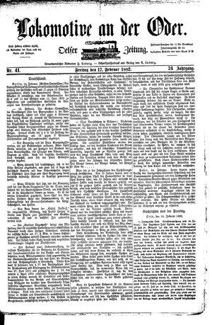 Lokomotive an der Oder vom 17.02.1882