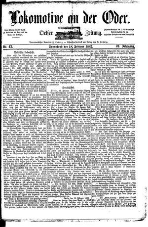 Lokomotive an der Oder vom 18.02.1882