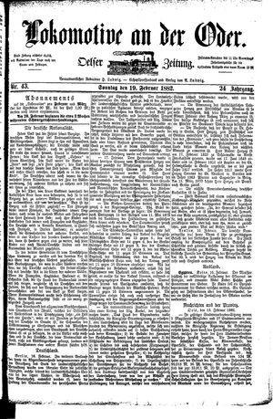 Lokomotive an der Oder vom 19.02.1882