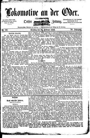 Lokomotive an der Oder vom 28.02.1882
