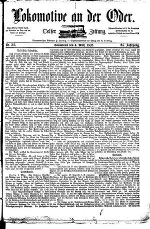 Lokomotive an der Oder vom 04.03.1882