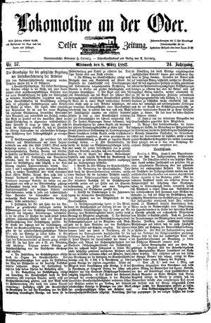 Lokomotive an der Oder vom 08.03.1882