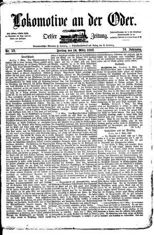 Lokomotive an der Oder vom 10.03.1882