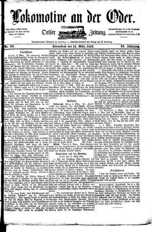 Lokomotive an der Oder vom 11.03.1882