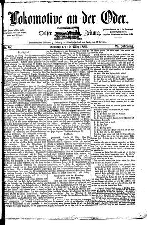 Lokomotive an der Oder vom 19.03.1882