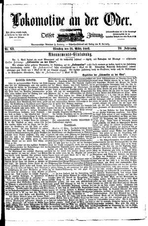 Lokomotive an der Oder on Mar 21, 1882