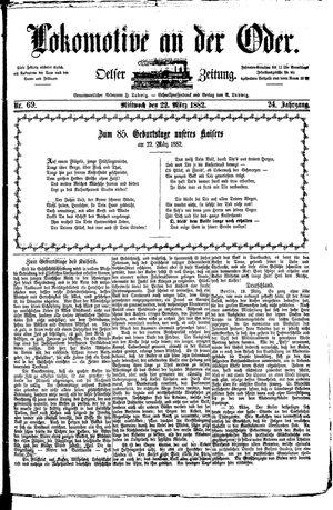 Lokomotive an der Oder vom 22.03.1882