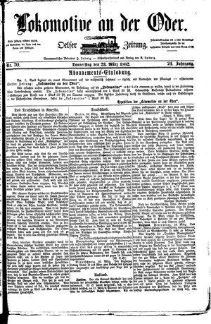 Lokomotive an der Oder vom 23.03.1882