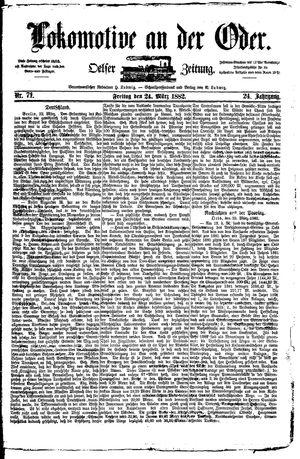 Lokomotive an der Oder vom 24.03.1882