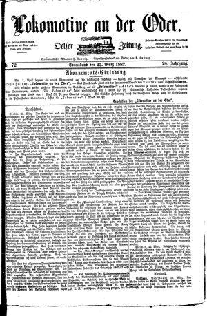 Lokomotive an der Oder vom 25.03.1882