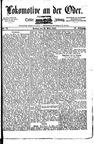 Lokomotive an der Oder vom 26.03.1882