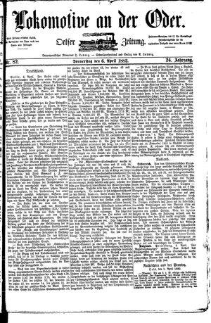 Lokomotive an der Oder vom 06.04.1882