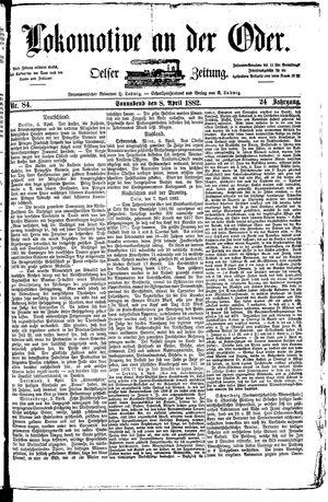 Lokomotive an der Oder vom 08.04.1882