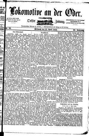 Lokomotive an der Oder vom 12.04.1882