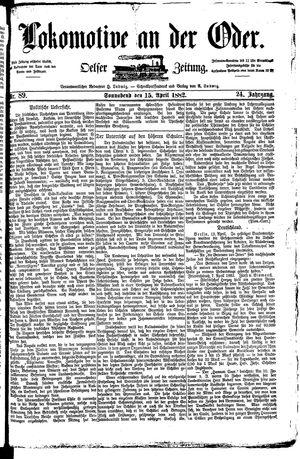 Lokomotive an der Oder vom 15.04.1882