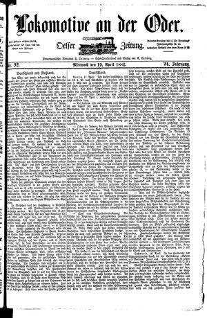 Lokomotive an der Oder vom 19.04.1882