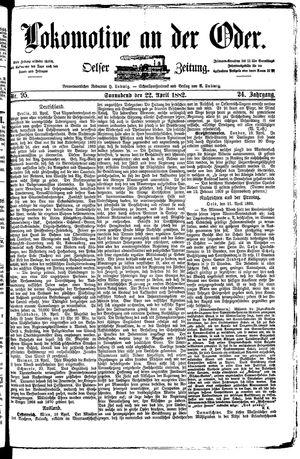 Lokomotive an der Oder vom 22.04.1882