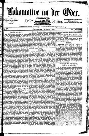 Lokomotive an der Oder on Apr 23, 1882