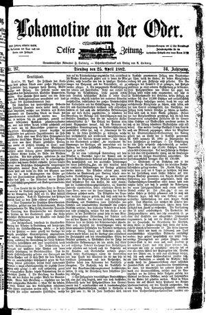 Lokomotive an der Oder vom 25.04.1882