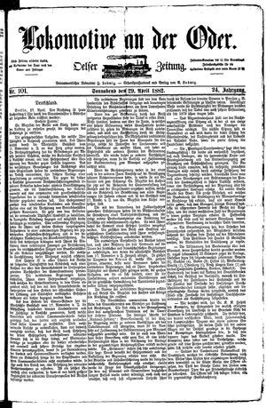 Lokomotive an der Oder vom 29.04.1882