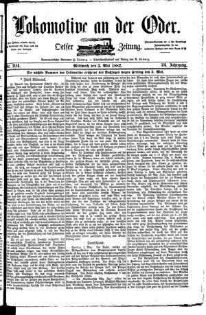 Lokomotive an der Oder vom 03.05.1882