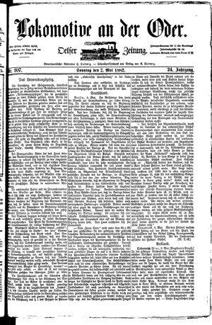 Lokomotive an der Oder vom 07.05.1882