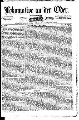 Lokomotive an der Oder vom 09.05.1882