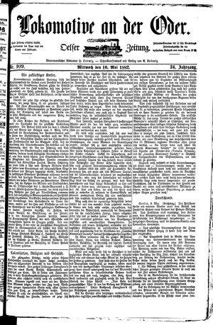 Lokomotive an der Oder vom 10.05.1882