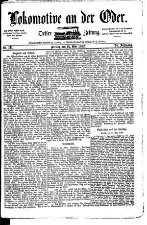 Lokomotive an der Oder vom 12.05.1882
