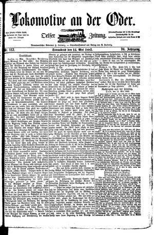 Lokomotive an der Oder vom 13.05.1882