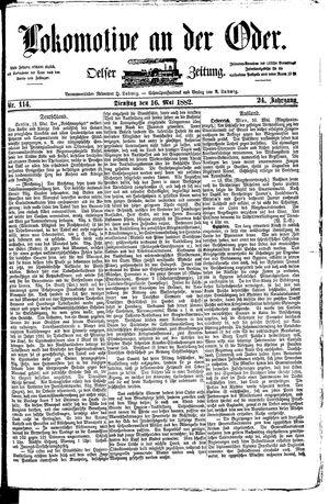 Lokomotive an der Oder vom 16.05.1882