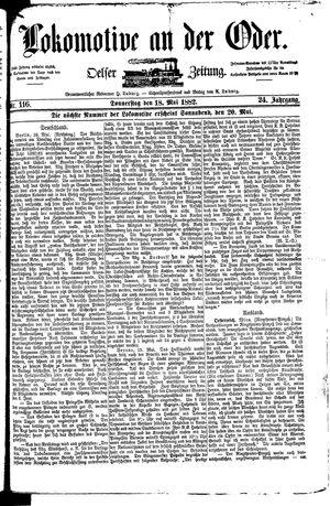 Lokomotive an der Oder vom 18.05.1882