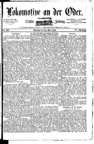 Lokomotive an der Oder vom 21.05.1882