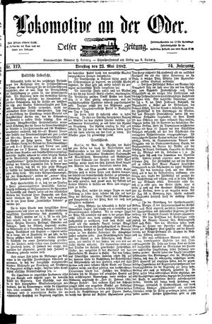 Lokomotive an der Oder on May 23, 1882