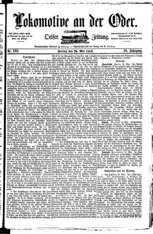 Lokomotive an der Oder vom 26.05.1882