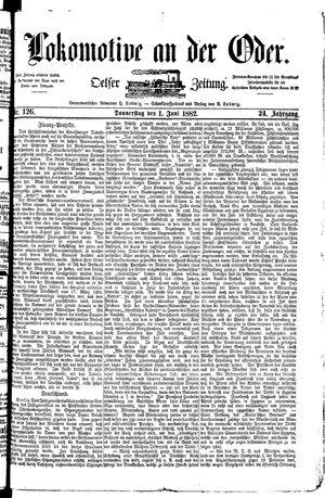 Lokomotive an der Oder vom 01.06.1882