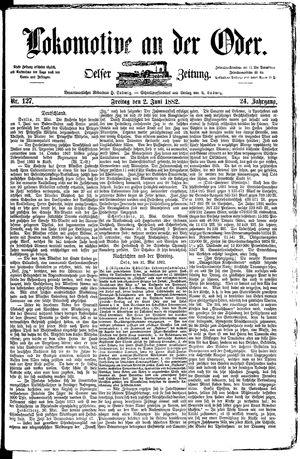 Lokomotive an der Oder on Jun 2, 1882