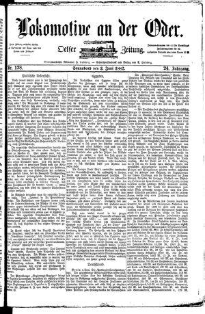 Lokomotive an der Oder vom 03.06.1882