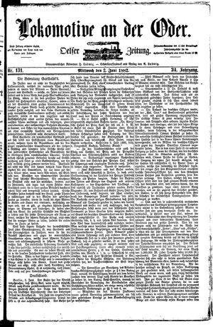 Lokomotive an der Oder vom 07.06.1882