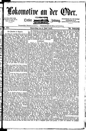 Lokomotive an der Oder vom 08.06.1882