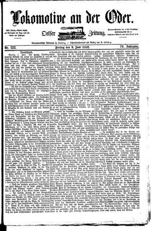 Lokomotive an der Oder vom 09.06.1882