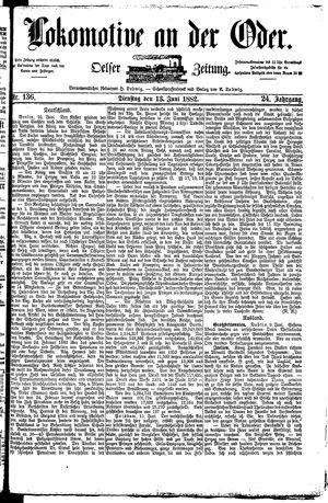 Lokomotive an der Oder vom 13.06.1882